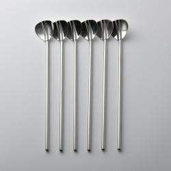 WMF 不鏽鋼兩用型湯匙吸管 20cm 6入