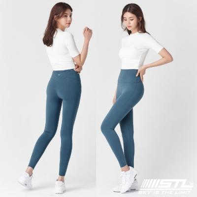STL Yoga Leggings Free Line 9 韓國瑜珈『無尷尬線』 高腰壓腹 訓練拉提緊身褲 自由曲線 微深綠松 重訓/路跑/登山/瑜珈