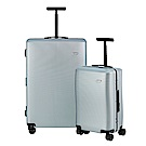 BENTLEY 28吋+20吋 PC+ABS 鋁合金拉桿尊榮硬殼行李箱 二件組-銀