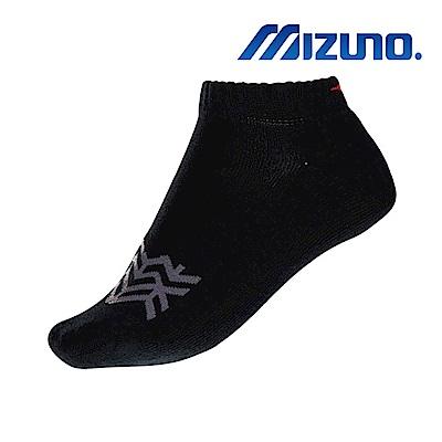 MIZUNO 女運動厚底踝襪 5入 黑X紫 32TX931496