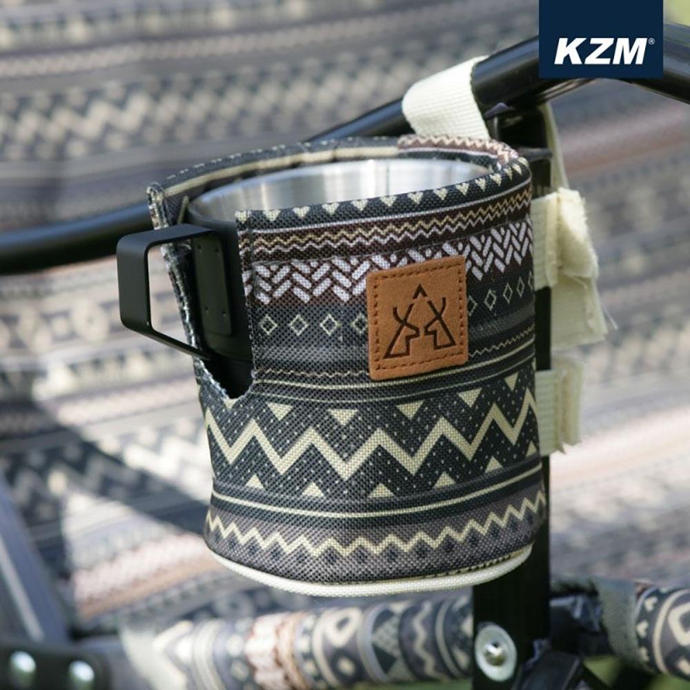 KAZMI KZM 彩繪民族風保溫杯套(藍灰色)