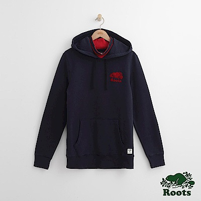 Roots 男裝-庫柏連帽上衣-藍