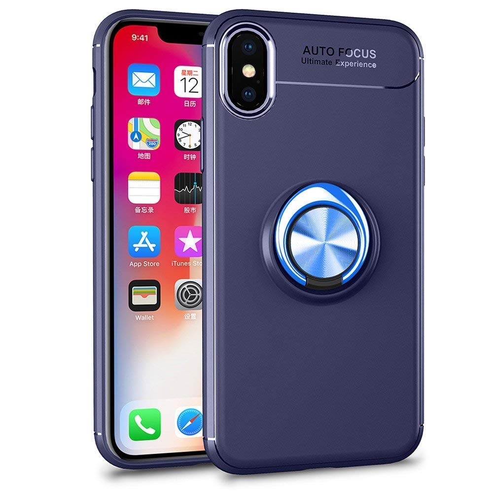 透明殼專家iPhone Xs Max多功能指環保護殼