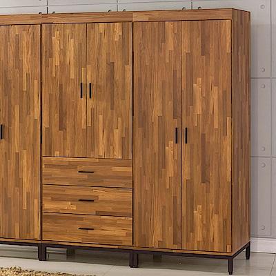 AS-亞特蘭工業風雙吊衣櫥-77x56x196cm
