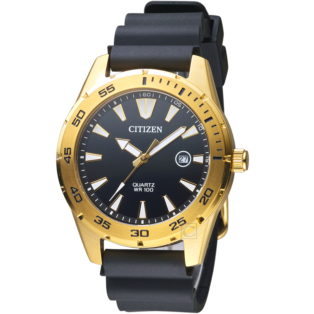 CITIZEN星辰潮流型男時尚腕錶(BI1043-01E)-金銅色