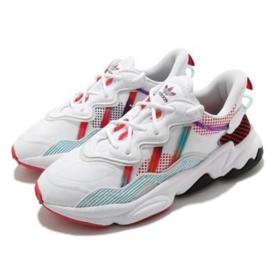 adidas 休閒鞋 Ozweego 流行款 女鞋 愛迪達 三葉草 老爹鞋 穿搭推薦 白 紅 Q47190