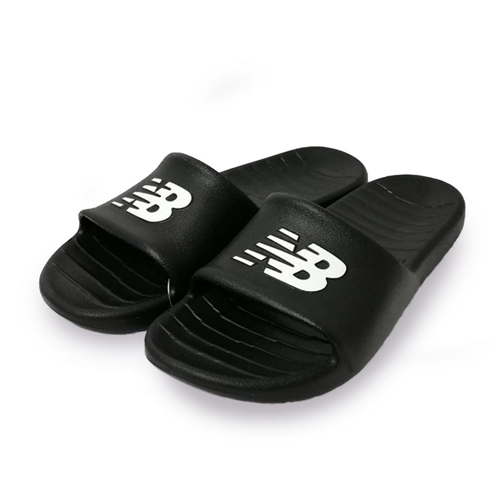 New Balance 涼拖鞋 基本款 輕量 透氣 休閒 男女鞋 黑 SUF100BKD