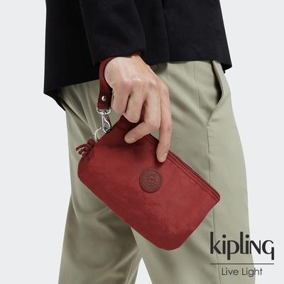 Kipling 微醺感胭脂紅多層配件包-CREATIVITY XL