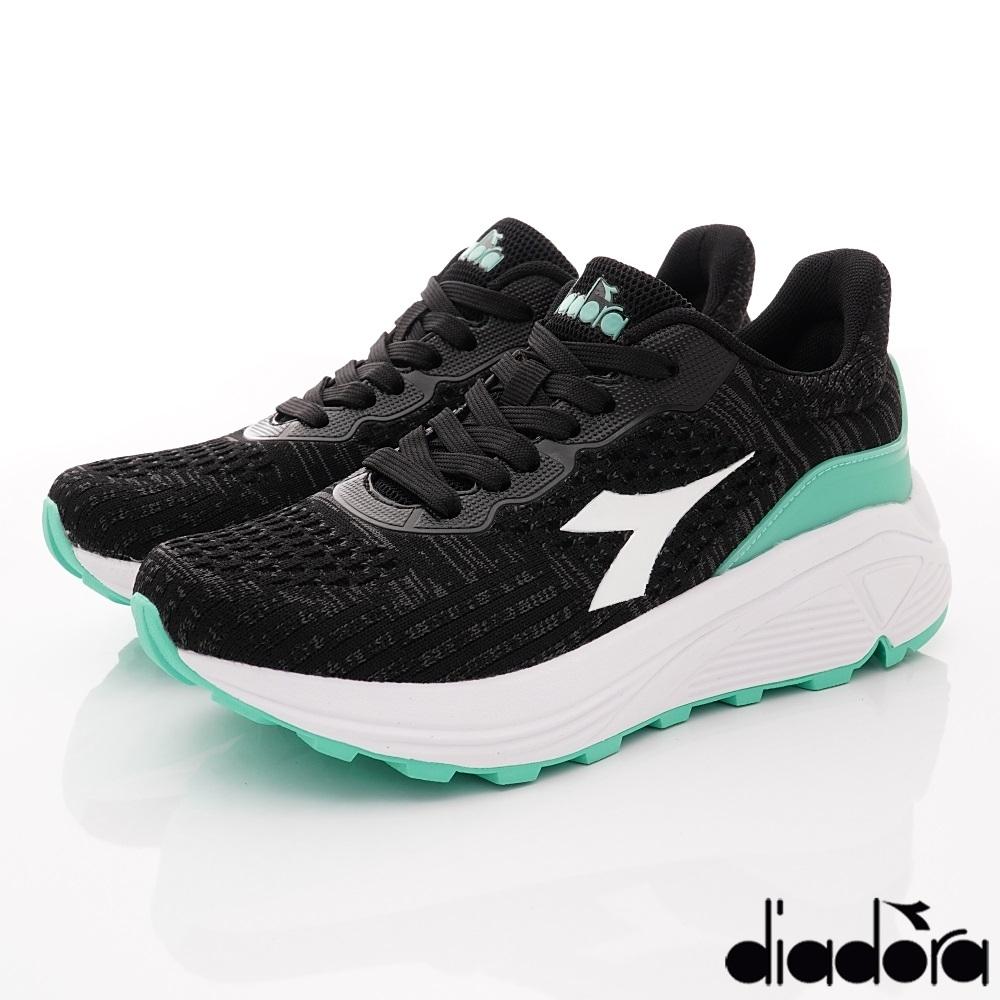 DIADORA-飛織避震慢跑鞋款 DATH1603綠(女段)