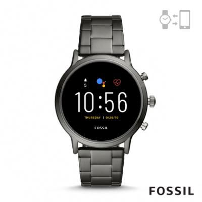 FOSSIL GEN 5智能錶 卡萊爾HR-槍灰不鏽鋼手錶44MM FTW4024