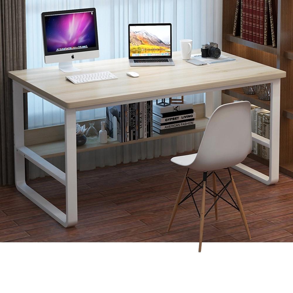 【Incare】高質感-鋼木多用收納工作電腦桌(120公分/3色可選)