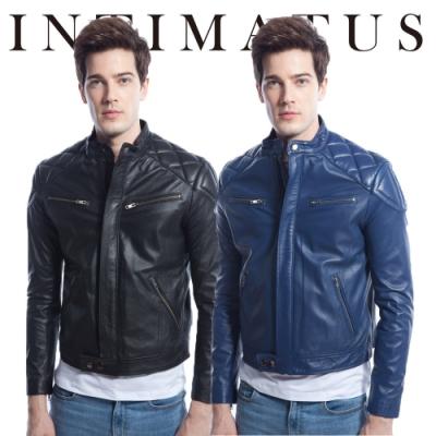 [時時樂限定] INTIMATUS  真皮 IM1904 帥氣菱格壓紋個性羊皮皮衣