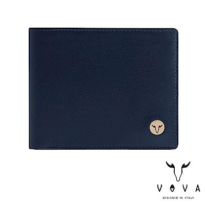 VOVA 費城系列8卡中翻零錢皮夾-深海藍