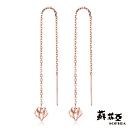 蘇菲亞SOPHIA-雅緻系列Diamond玫瑰金18K耳環