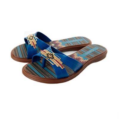 Grendha 馬雅印記平底拖鞋-藍