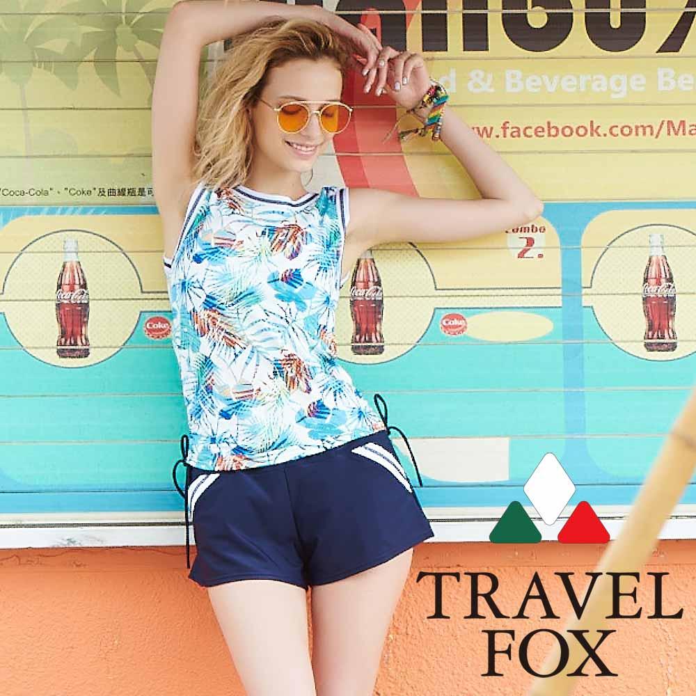 TRAVEL FOX夏之戀 大女長版三件式泳衣