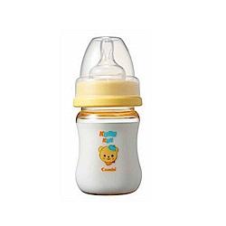 Combi Kuma Kun 小熊寬口PES奶瓶 (黃-140ml-圓孔S)