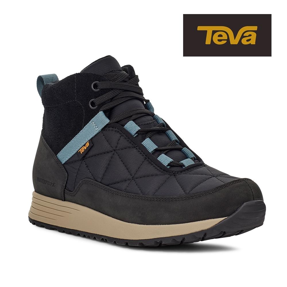 【TEVA】原廠貨 女 Ember Commute WP 高筒防水戶外休閒鞋/登山鞋(黑灰色-TV1111779BCGR)
