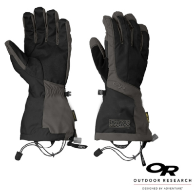 Outdoor Research 男款 ARETE GLOVES 雙層防風防水透氣保暖手套_黑