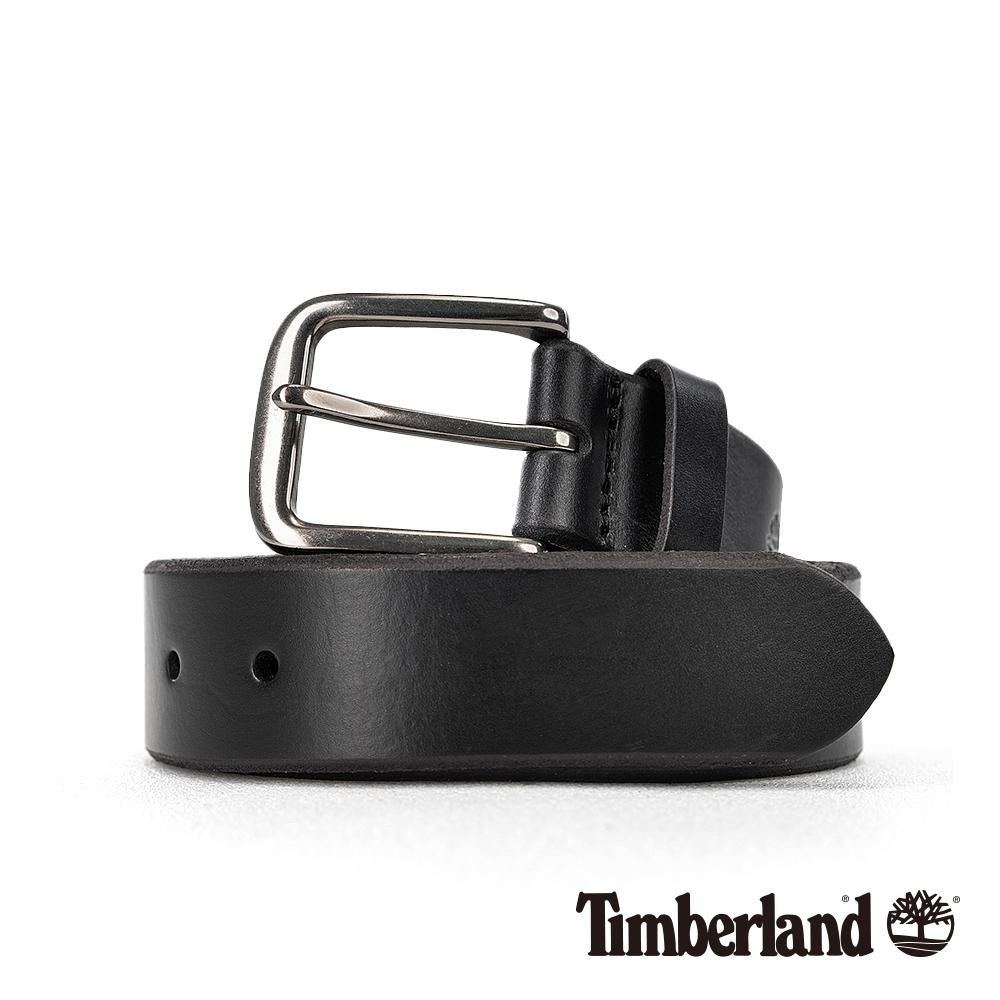 Timberland 中性黑色32MM經典復古皮帶|A1DP6
