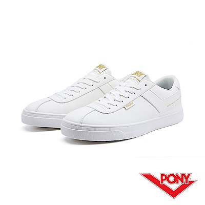 【PONY】Macado系列-經典復古休閒鞋-男-白