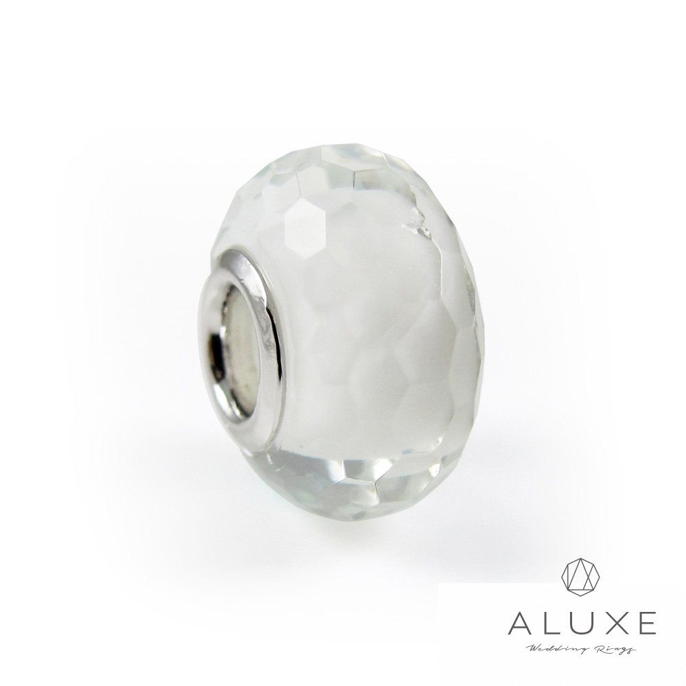 ALUXE亞立詩 Charming系列 925純銀珠飾-白色冰晶 White crystal