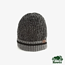ROOTS配件- 溫馨佳節針織帽-黑