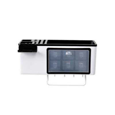 DaoDi無痕壁掛式多功能廚房收納架2入組