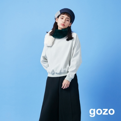 gozo 燈心絨素面圓領上衣(二色)