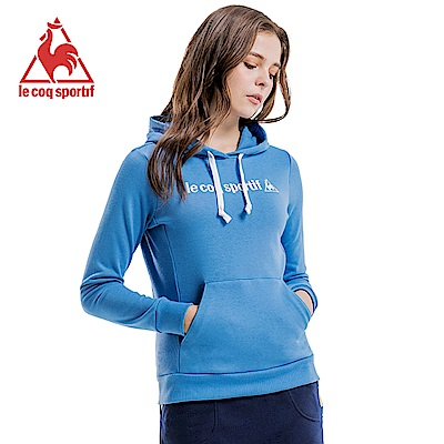 le coq sportif 法國公雞牌長袖連帽T恤 女-灰藍