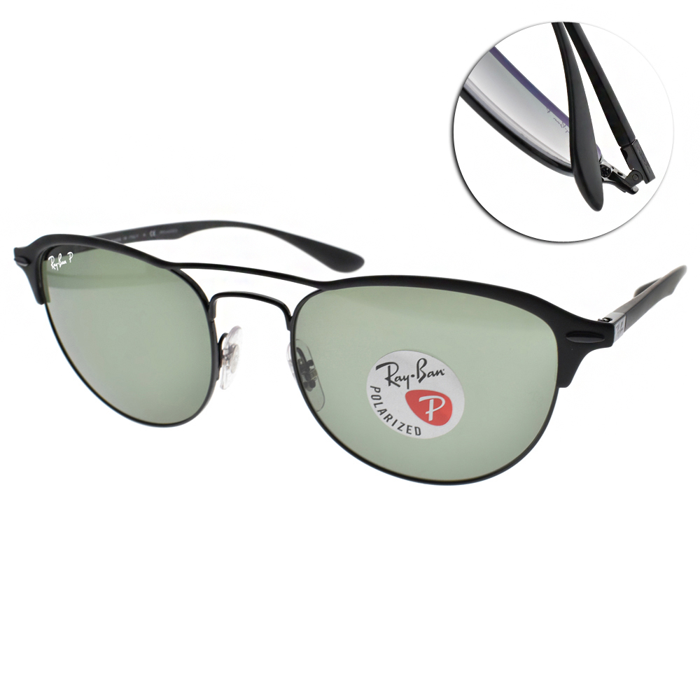 RAY BAN偏光太陽眼鏡 個性百搭眉框/黑#RB3596 1869A