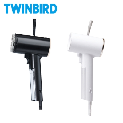 【成雙成對組】日本TWINBIRD-高溫抗菌除臭 美型蒸氣掛燙機TB-G006TW(白+黑)
