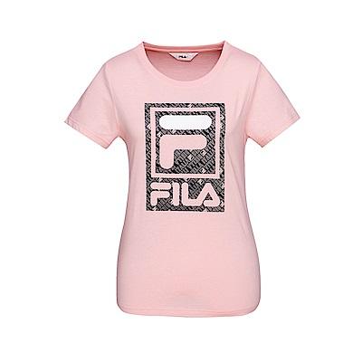 FILA 女款短袖圓領T恤-粉色 5TET-1519-PK