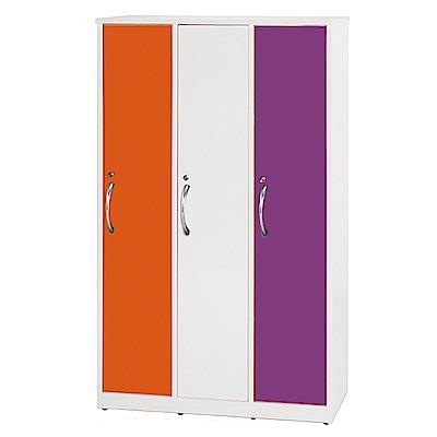 文創集 艾倫環保3.5尺塑鋼三門三人置物櫃/收納櫃-105x51x180cm-免組