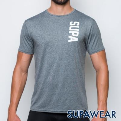 SUPAWEAR 反光標識快乾透氣健身慢跑運動短袖T恤(灰色)