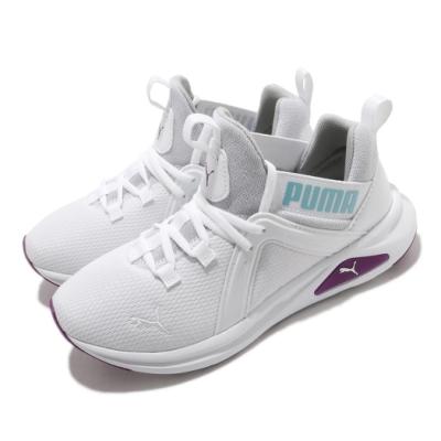 Puma 慢跑鞋 Enzo 2 Sparkle 運動 童鞋 襪套 舒適 輕便 簡約 小童 穿搭 白 銀 19457302
