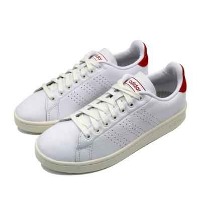 ADIDAS ADVANTAGE 男休閒鞋-白紅-EG3773