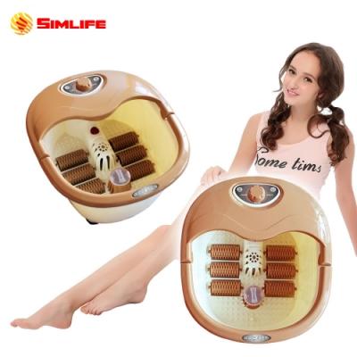 Simlife 陶瓷加熱12種高強功能SPA泡腳機(足浴/足療/美腿機)-拿鐵咖