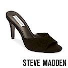 STEVE MADDEN-ERIN魚口高跟拖鞋-絨黑
