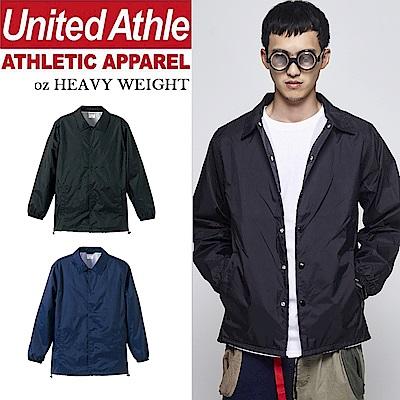 日本United Athle尼龍教練外套 立領風衣 防風防撥水