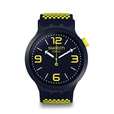 Swatch Big Bold 系列手錶 BBNEON 明亮黃 - 47mm