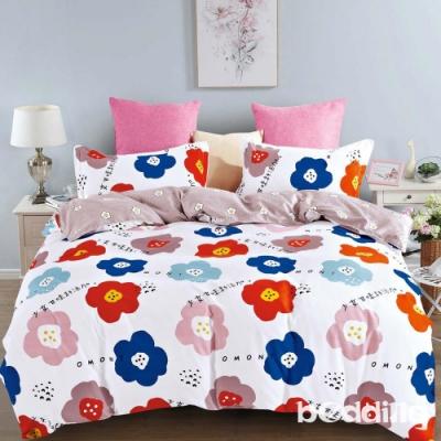 BEDDING-活性印染-特大6x7薄式床包枕套三件式-日系少女