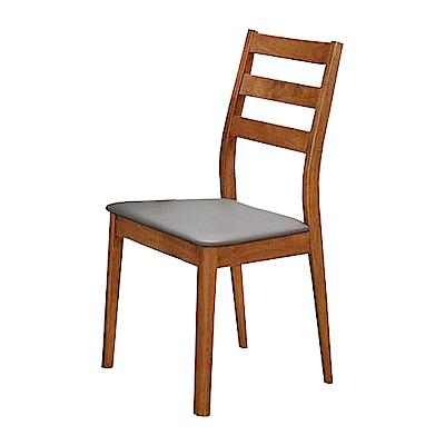 AS-愛琳胡桃灰皮餐椅-48x49x90cm