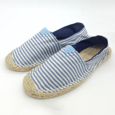 韓國KW美鞋館 (現貨+預購) 典藏百搭條紋帆布懶人鞋-藍
