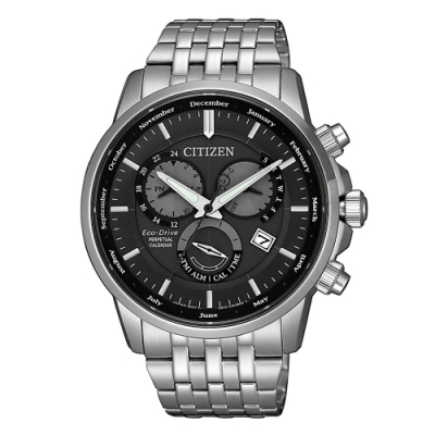CITIZEN 卓越質感萬年曆光動能腕錶BL8150-86H