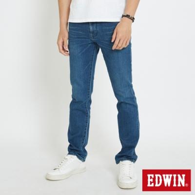 EDWIN 503 大尺碼 基本五袋式 直筒牛仔褲-男-石洗綠