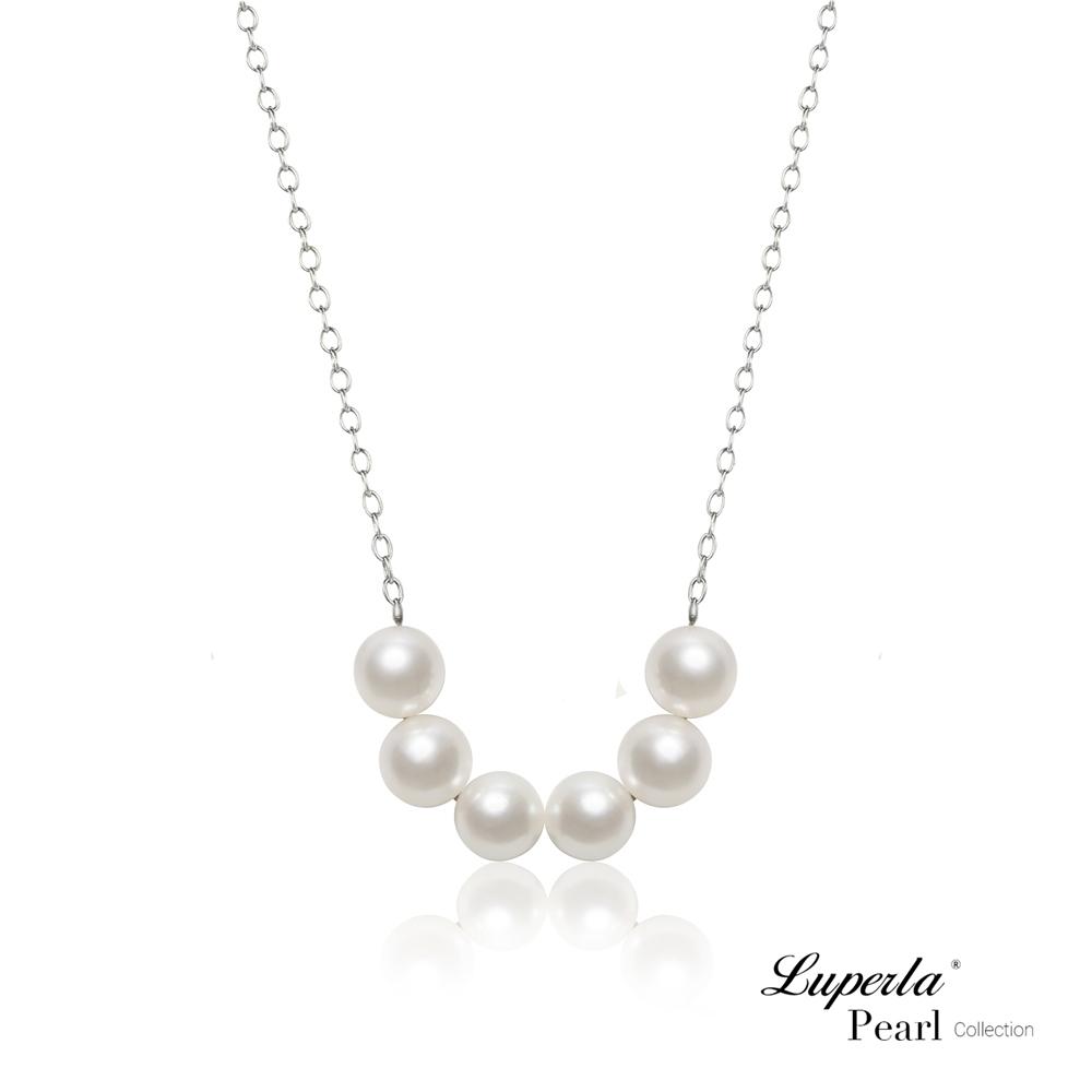 大東山珠寶 掌上明珠系列 心連心 925銀 日本珍珠項鍊 活扣式