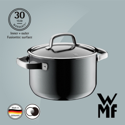 德國WMF Fusiontec 高身湯鍋20cm/3.7L-鉑灰色(快)