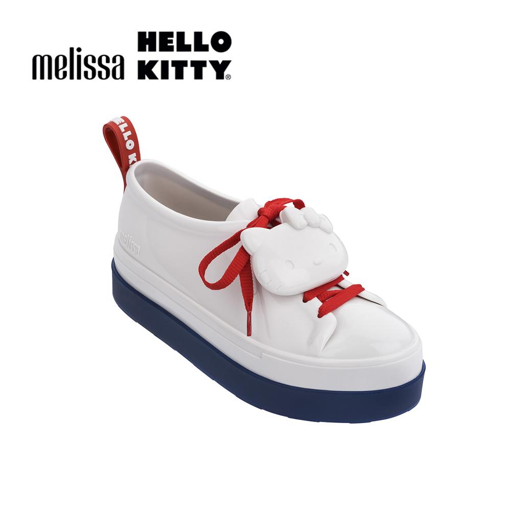 Melissa X HELLO KITTY親子系列 成人休閒鞋-白色