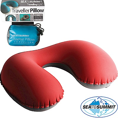 Sea to Summit 充氣頸枕_紅 甜甜圈枕/旅行護頸枕/飛機枕/午睡枕